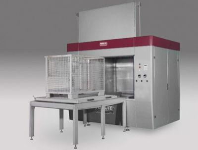 Clean-o-mat PF 150 with custom designed loading station