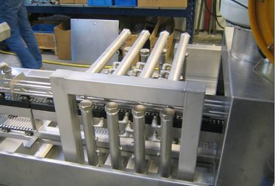 Example: Blast pipe system incl. adjustable fan nozzles